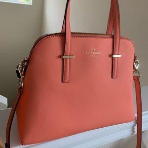 New Kate Space handbag. Coral color